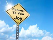 Reliez à votre signe de joie illustration libre de droits