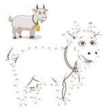 Reliez l'illustration de vecteur de chèvre de jeu de points illustration stock