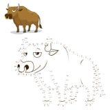 Reliez l'illustration de vecteur de taureau de jeu de points illustration libre de droits