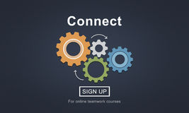 Reliez l'interaction Team Teamwork Concept illustration stock