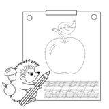 Reliez la page de photo et de coloration de points Fiche de travail de découverte Puzzle pour des enfants Photos libres de droits