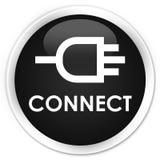 Reliez le bouton rond noir de la meilleure qualité Images libres de droits