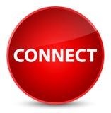 Reliez le bouton rond rouge élégant Photos stock