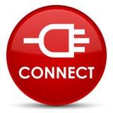 Reliez le bouton rond rouge spécial Photographie stock libre de droits