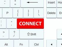 Reliez le bouton rouge de clavier Photos libres de droits