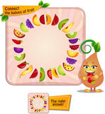 Reliez les moitiés du fruit illustration stock