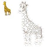 Reliez les points à l'animal d'aspiration illustration de vecteur