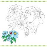 Reliez les points et la page de coloration Image libre de droits