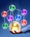 Mise en réseau sociale - bulles reliées photo libre de droits