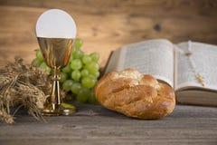 Religião da cristandade do símbolo, fundo do comunhão imagem de stock royalty free