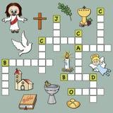 Religião das palavras cruzadas Foto de Stock