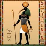 Religião de Egipto antigo ilustração do vetor