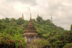 Religião do budismo em cambodia Imagem de Stock