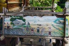 Religião do curso do ouro do deus do budismo do templo de Tailândia a Buda foto de stock