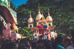 Religião do templo de Mayapur raly imagem de stock