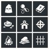 Religião falsa, ícones da seita Ilustração do vetor Foto de Stock Royalty Free