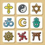 Religião icons_1 Foto de Stock Royalty Free