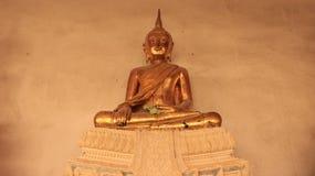 Religião Imagem Smilingly dourada das Budas Fotografia de Stock Royalty Free