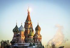 Religião ortodoxo da igreja do russo da cidade de Moscou Foto de Stock