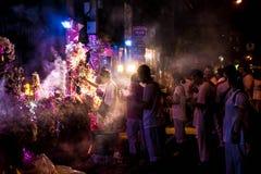 Religião tradicional do budismo do festival de Navarati de Tailândia imagem de stock