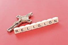 Religión con crucifijo Imágenes de archivo libres de regalías