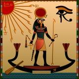 Religión de Egipto antiguo stock de ilustración