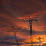 Religión de la cruz de dios de Jesús Fotografía de archivo libre de regalías