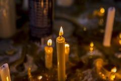 Religión del misterio del sitio de la vela imagen de archivo