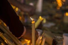 Religión del misterio del sitio de la vela imagen de archivo libre de regalías