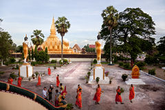 Religión en Vientiane fotografía de archivo