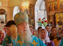 Religión, sacerdote. Mitropolit Dnepropetrovsk Ucrania foto de archivo libre de regalías