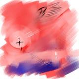 Religiös bild för abstraktion stock illustrationer