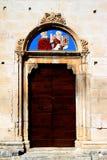 Religiös bild på den Sulmona domkyrkan, Italien Royaltyfri Foto