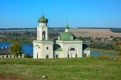 Religiös byggnad, ortodox kristen domkyrka med Green Dome royaltyfri fotografi