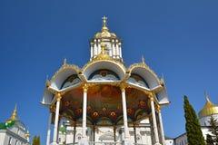 Religiös byggnad, ortodox kristen domkyrka Sommaraltare I royaltyfri fotografi