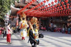 Religiös ceremoni av xiachengchenghuangtemplet Arkivfoton