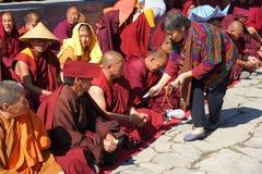 Religiös ceremoni för buddism Arkivfoto