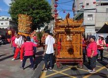 Religiös ceremoni i Taiwan Arkivfoton