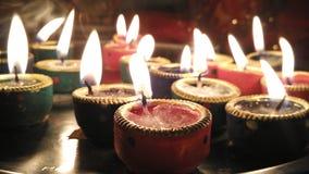 Religiös för diwaliblixtfestival för colorfull klosterbroder deepawaly Royaltyfria Bilder