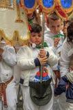 Religiös festival i Aversa Fotografering för Bildbyråer