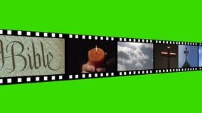 Religiös längd i fot räknatmontage lager videofilmer