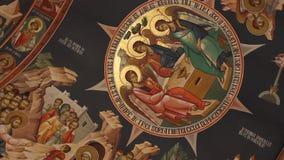 Religiös målning stock video