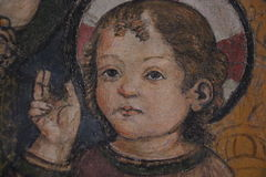 Religiös målning i Rome royaltyfria bilder