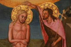 Religiös målning i Rome royaltyfri bild