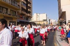 Religiös procession Fotografering för Bildbyråer