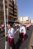 Religiös procession Arkivfoto