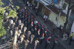 Religiös procession i Thailand Royaltyfri Fotografi