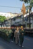 Religiös procession i Thailand Arkivbilder
