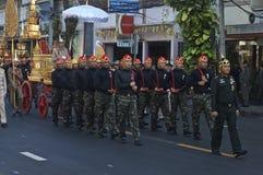 Religiös procession i Thailand Arkivfoto