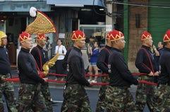Religiös procession i Thailand Royaltyfria Foton
